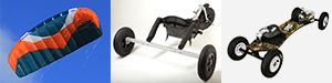 aile de powerkite, buggy et mountainboard