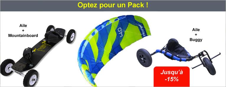 Les Packs mountainboard, buggy et ailes de traction