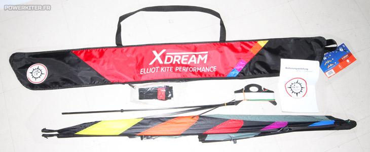 Cerf-volant Elliot X-Dream, livré complet