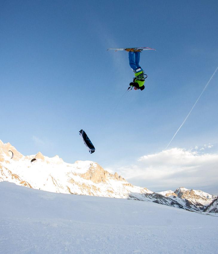 Benoit Miquel en snowkite