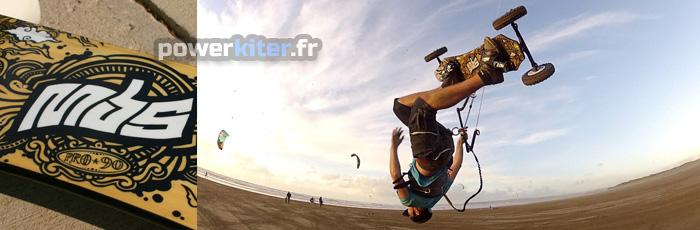 Lewis Wilby en kite mountainboard avec le pro 90