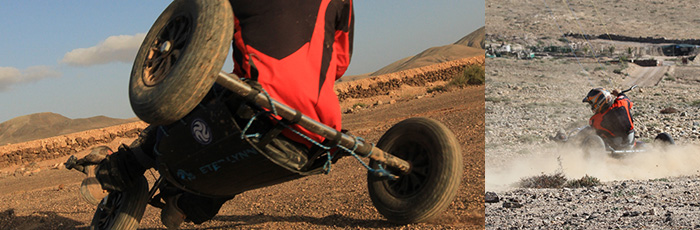 Buggy Peter Lynn XR en action à Fuerteventura