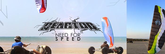 Action en buggy avec la Peter Lynn Reactor