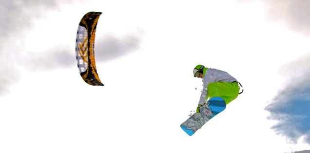 freestyle en snowkite
