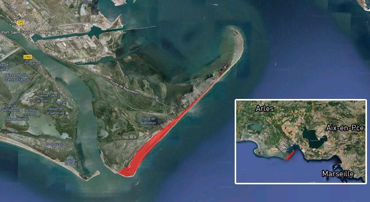 Spot port saint louis 13 plage napol on - Plage napoleon port saint louis du rhone ...