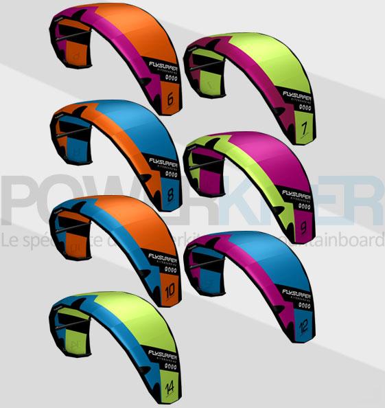 Couleurs aile de kitesurf Flysurfer STOKE