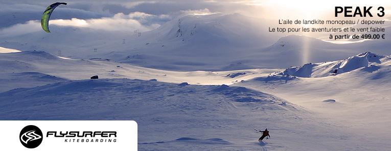 La Flysurfer Peak : Aile Border Choquer et Mono-peau