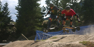 boarder cross en mountainboard