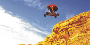 freerider en mountainboard dirt