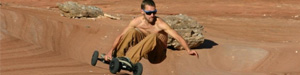 rider en mountainboard dirt