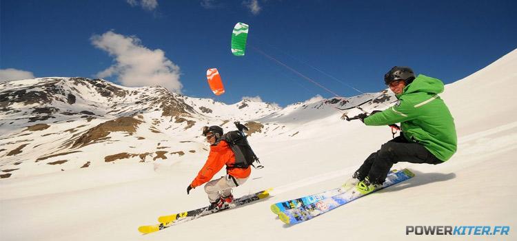 Snowkite avec la Peter Lynn Lynx